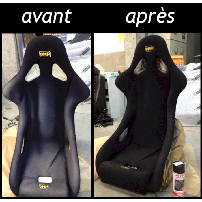 Peinture teinture pour textile noire en aerosol bombe 400ml - Teinture textile noir ...