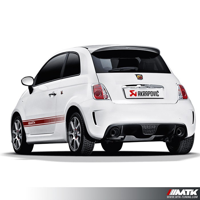 silencieux inox akrapovic slip on fiat abarth 500 595 695. Black Bedroom Furniture Sets. Home Design Ideas
