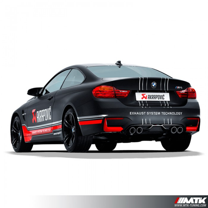 silencieux et ligne echappement akrapovic bmw m4 f82 m3 f80 competition. Black Bedroom Furniture Sets. Home Design Ideas