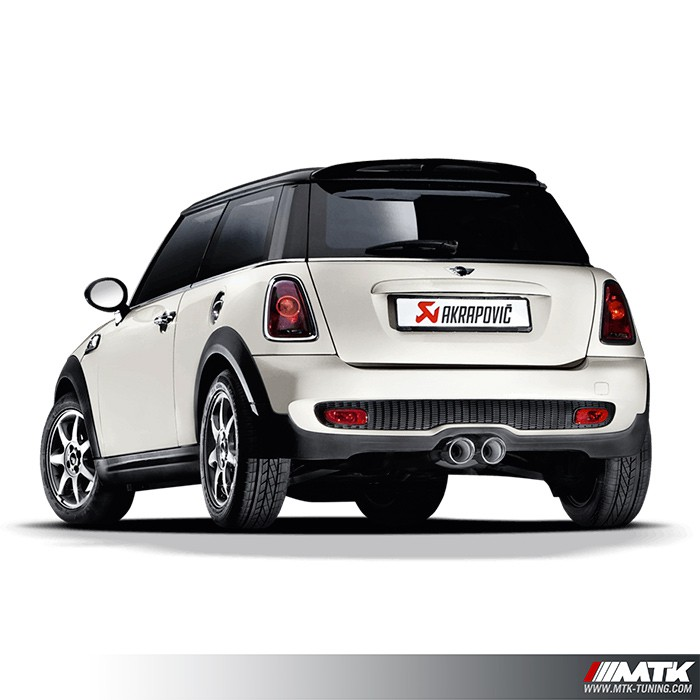 ligne chappement akrapovic evolution line mini cooper s r56. Black Bedroom Furniture Sets. Home Design Ideas