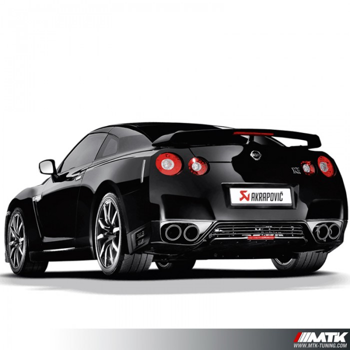 silencieux chappement titane akrapovic nissan gtr r35. Black Bedroom Furniture Sets. Home Design Ideas