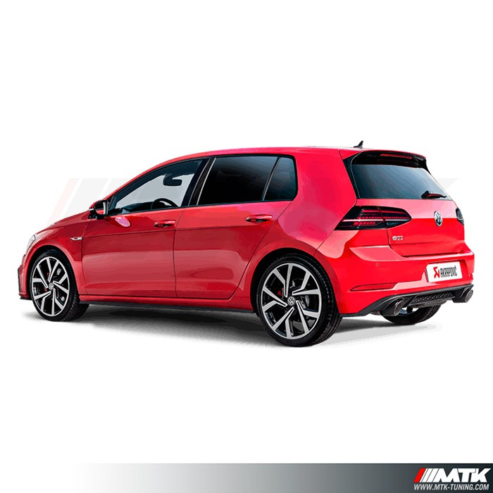 ligne d 39 echappement titane akrapovic vw golf 7 2 gti perf. Black Bedroom Furniture Sets. Home Design Ideas