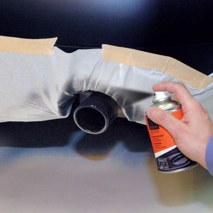 peinture spray pour embout d echappement argent foliatec. Black Bedroom Furniture Sets. Home Design Ideas