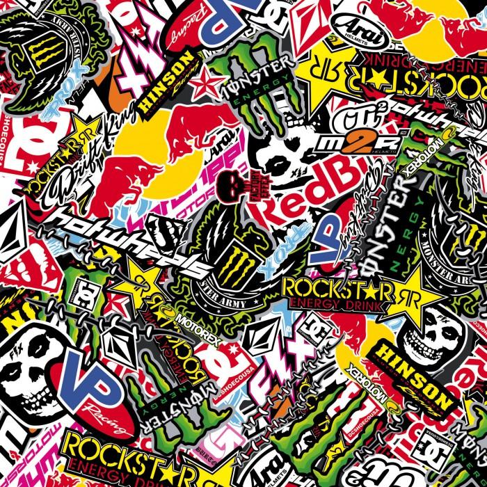 Sticker Bombing Sticker Bomb Monster Energy Redbull Rockstar