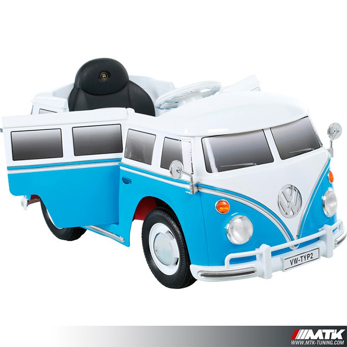 voiture lectrique pour enfant vw combi bleu 12volts. Black Bedroom Furniture Sets. Home Design Ideas