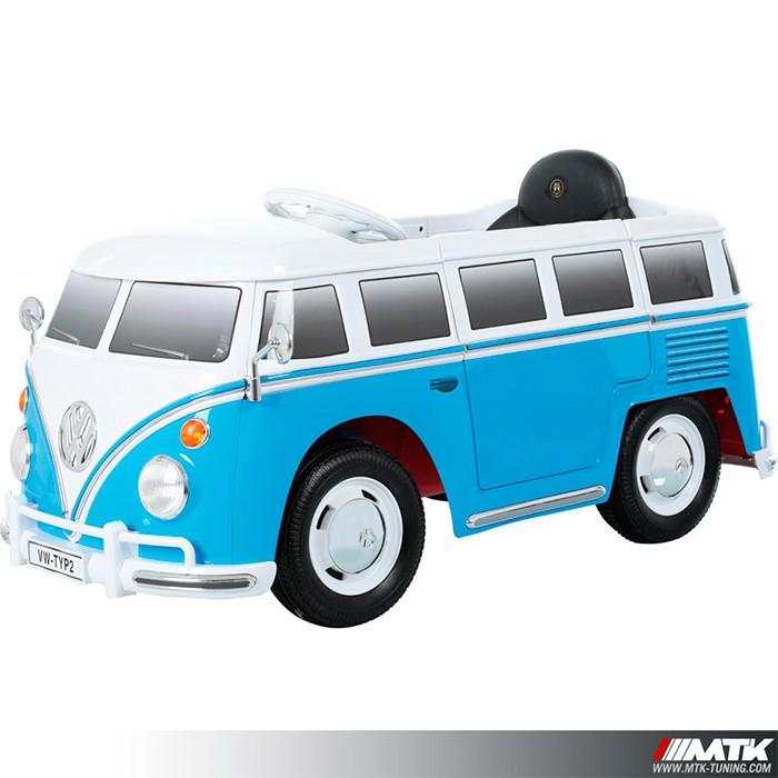 Voiture Electrique Pour Enfant VW Combi Bleu 12Volts