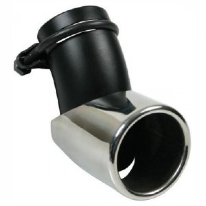 embout d 39 chappement orientable court 76 mm pour sortie entre 45 et 55 mm. Black Bedroom Furniture Sets. Home Design Ideas