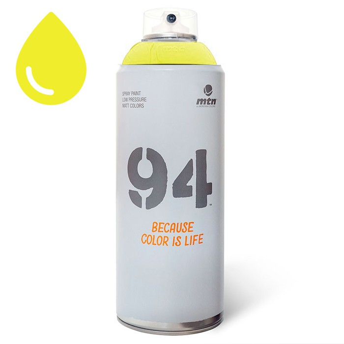 peinture fluorescente jaune montana mtn 94 aerosol 400ml. Black Bedroom Furniture Sets. Home Design Ideas