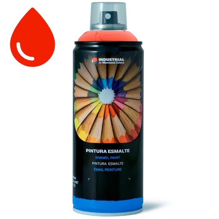 Peinture fluorescente rouge montana mtn industrial 400ml for Peinture fluorescente exterieur