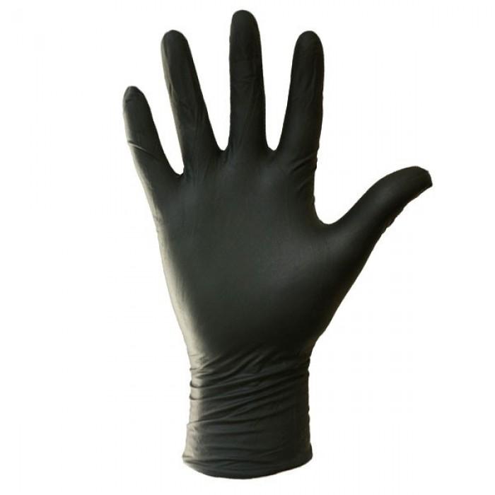 Gants noirs non latex