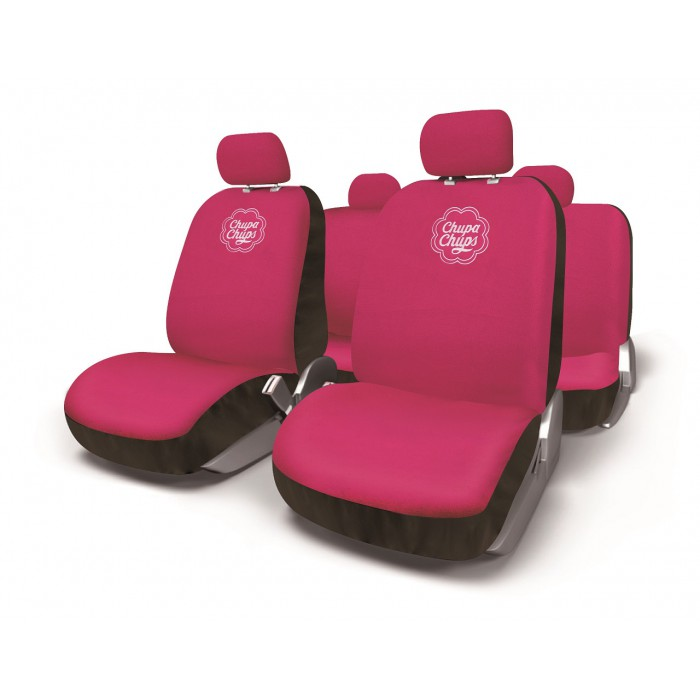 Housses de si ges voiture chupa chups rose for Housse voiture rose
