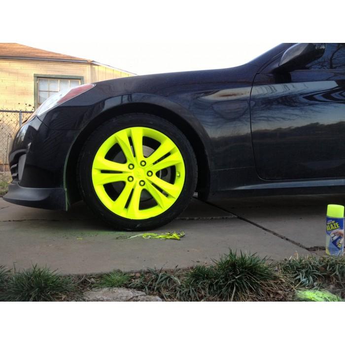 Plastidip plasti dip blaze jaune fluo for Plasti dip interieur voiture