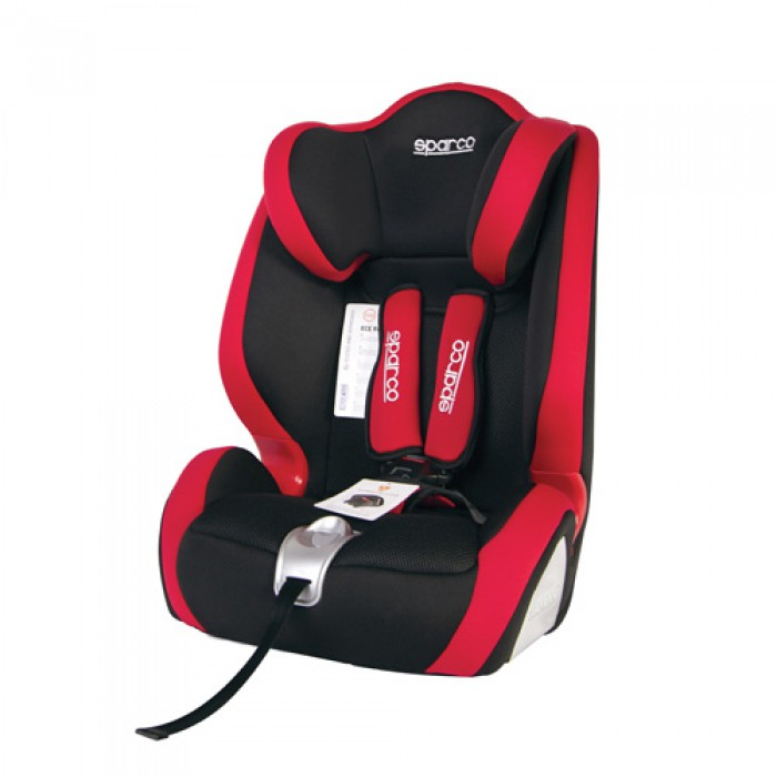 Siege auto bebe sparco f1000k rouge for Siege auto amovible
