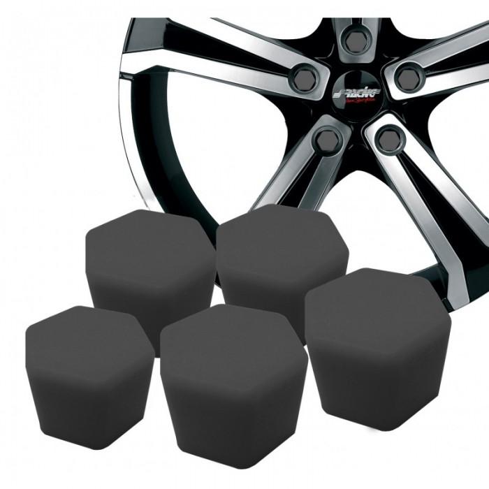 20 caches crou ou vis de roue noir mat de 19 ou 17. Black Bedroom Furniture Sets. Home Design Ideas