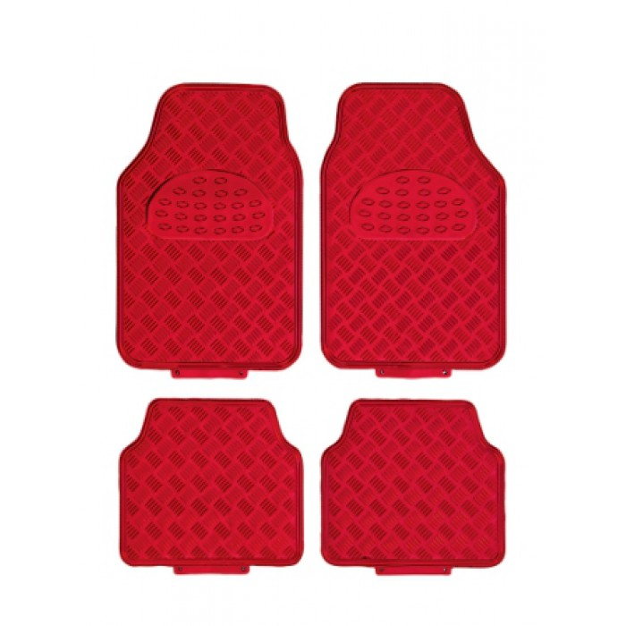 tapis de sol voiture caoutchouc alu rouge. Black Bedroom Furniture Sets. Home Design Ideas