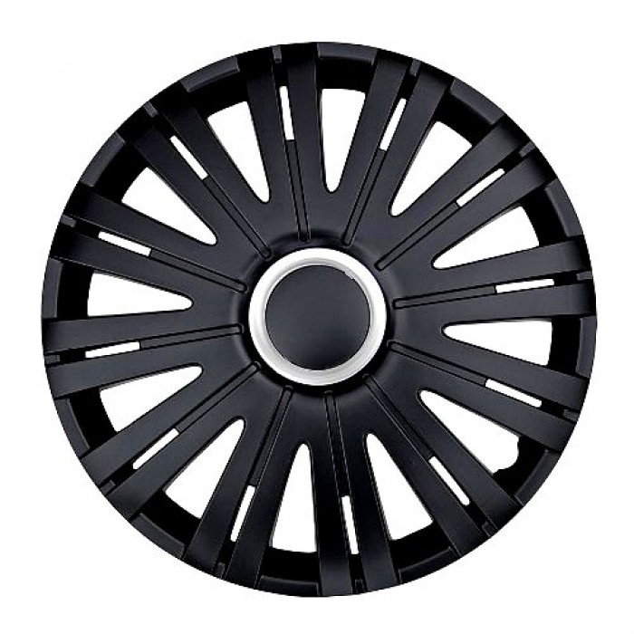 pack de 4 enjoliveurs de roues noir en 15 pouces. Black Bedroom Furniture Sets. Home Design Ideas
