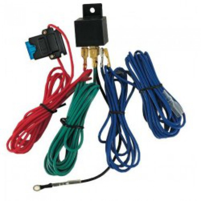 Kit de branchement avec relais et fusible pour phares additionnels