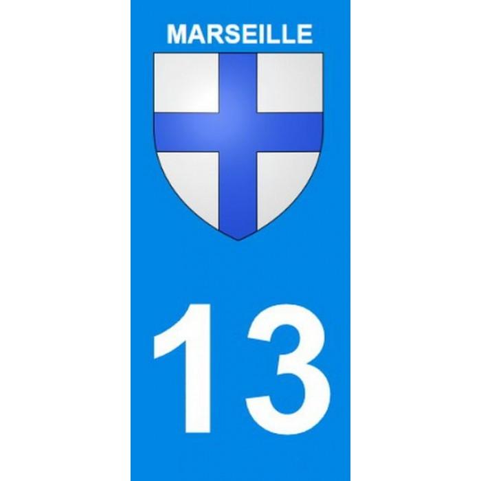 stickers pour plaque d 39 immatriculation departement 13 marseille. Black Bedroom Furniture Sets. Home Design Ideas