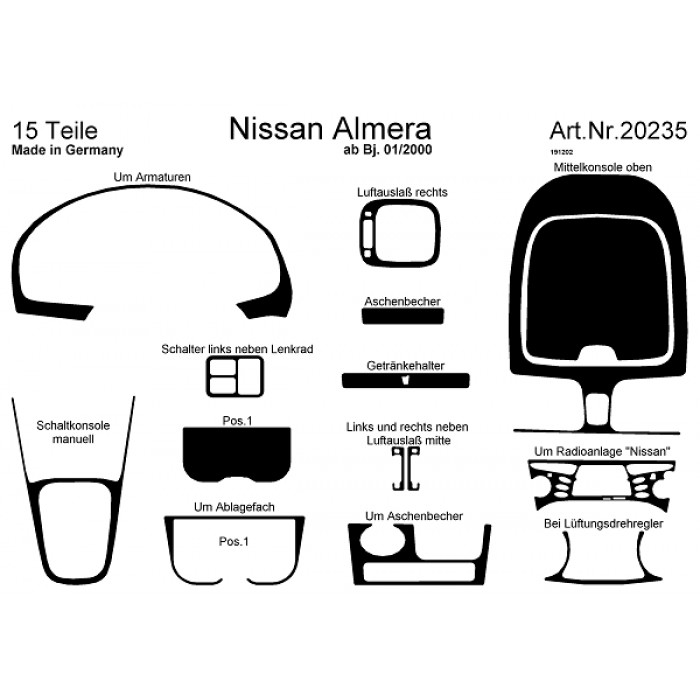 d coration de tableau de bord nissan almera. Black Bedroom Furniture Sets. Home Design Ideas