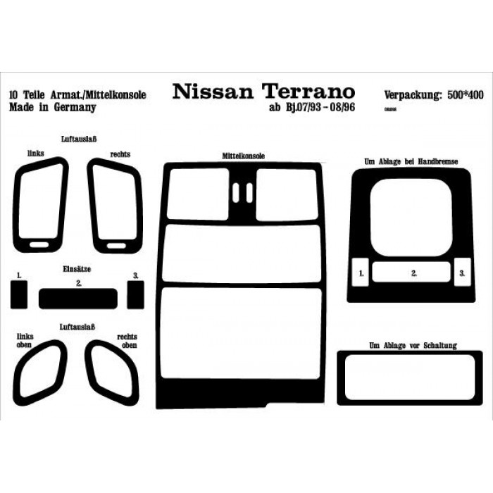 d coration de tableau de bord nissan terrano 2. Black Bedroom Furniture Sets. Home Design Ideas