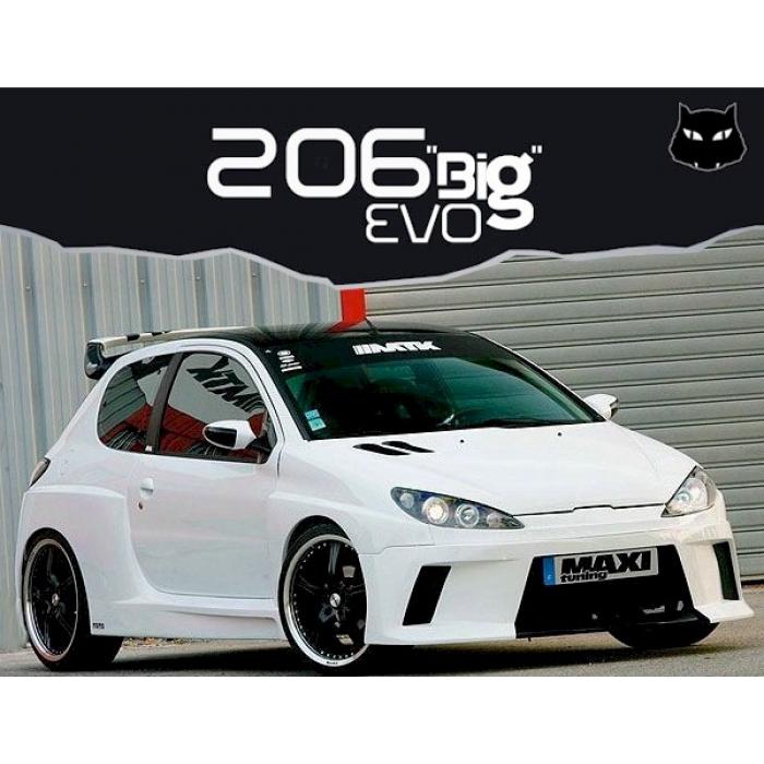 kit carrosserie 206 big evo 3 portes mtk tuning. Black Bedroom Furniture Sets. Home Design Ideas