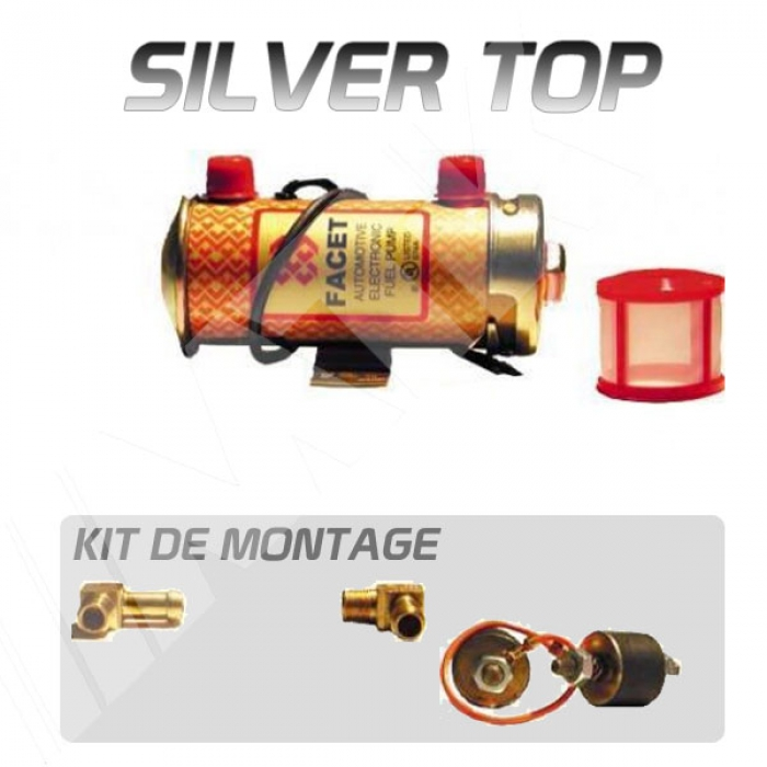 pompe essence facet silver top pour carburateur