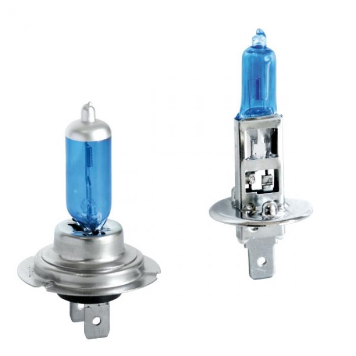 2 Ampoule H1 Et H7 55w Look Xenon Bleu