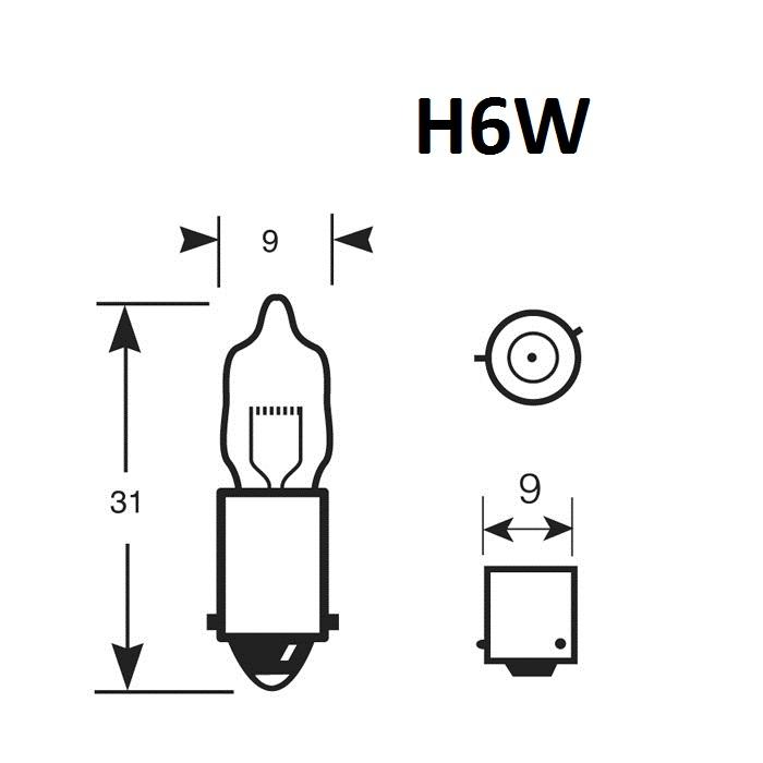 Ampoule H6W