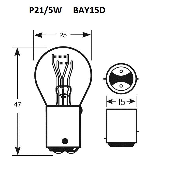 Ampoule P21/5W
